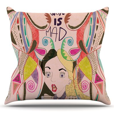 Alice in Wonderland by Vasare Nar Outdoor Throw Pillow