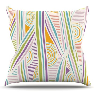 Graphique by Emine Ortega Outdoor Throw Pillow