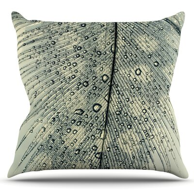 Feather Light by Ingrid Beddoes Outdoor Throw Pillow