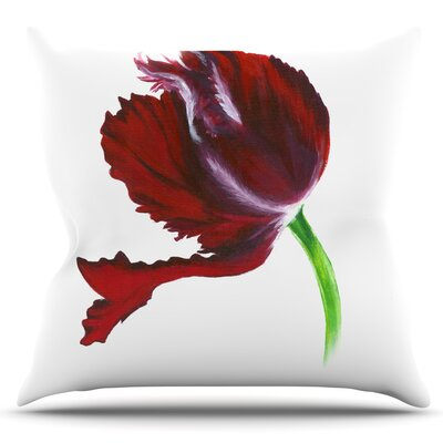 Tulip by Lydia Martin Outdoor Throw Pillow