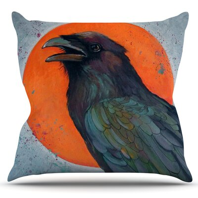 Raven Sun by Lydia Martin Outdoor Throw Pillow