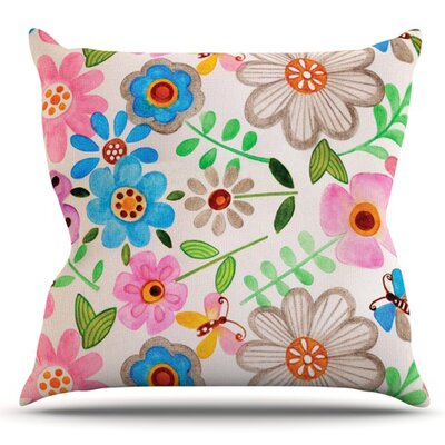 The Garden by Louise Machado Outdoor Throw Pillow