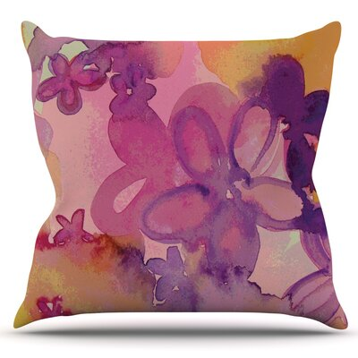 Dissolved Flowers by Louise Machado Outdoor Throw Pillow