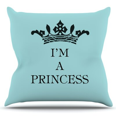 Im a Princess by Louise Machado Outdoor Throw Pillow