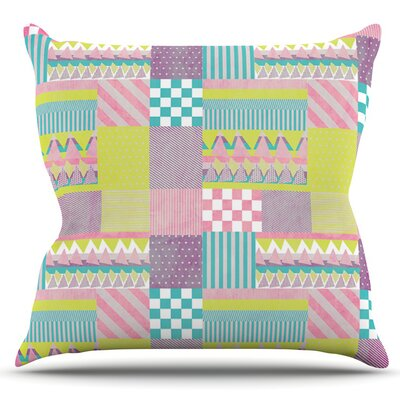 Patchwork by Louise Machado Outdoor Throw Pillow