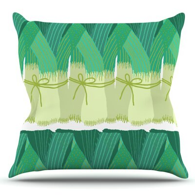 Leeks by Laura Nicholson Outdoor Throw Pillow