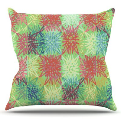 Multi Lacy by Laura Nicholson Outdoor Throw Pillow