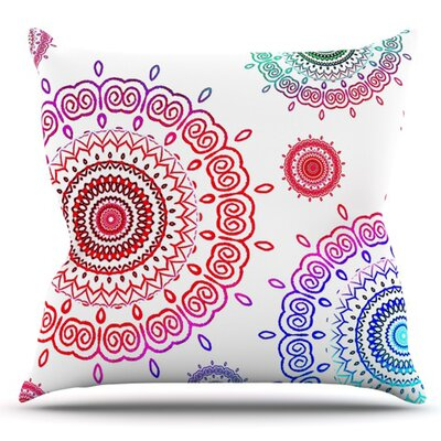 Rainbow Infinity by Monika Strigel Outdoor Throw Pillow