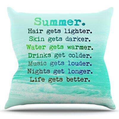 Summer XXL by Monika Strigel Outdoor Throw Pillow