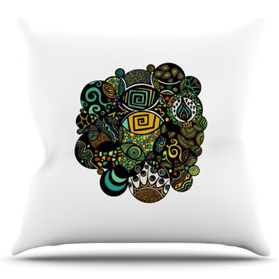 Multicolor Life by Pom Graphic Design Outdoor Throw Pillow
