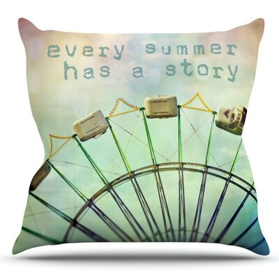 Every Summer Has a Story by Sylvia Cook Outdoor Throw Pillow