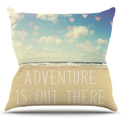 Adventure is Out There by Sylvia Cook Outdoor Throw Pillow