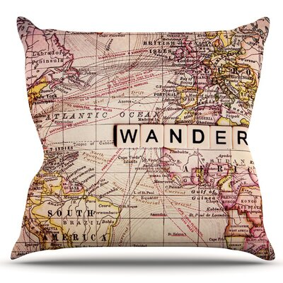 Wander by Sylvia Cook Outdoor Throw Pillow