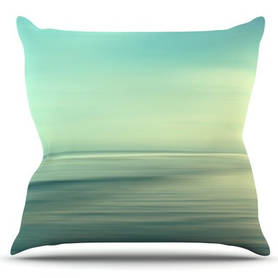Beach by Sylvia Cook Outdoor Throw Pillow