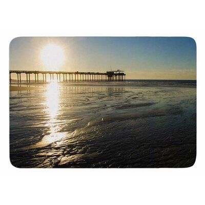 Sun Over Scripps Pier by Nick Nareshni Bath Mat