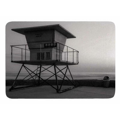 Lifeguard Station At Dusk by Nick Nareshni Bath Mat