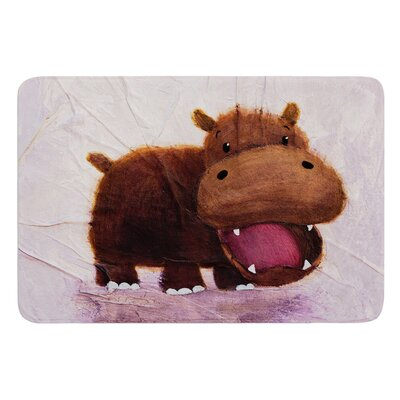 The Happy Hippo by Rachel Kokko Bath Mat