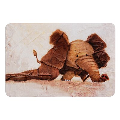 The Elephant with the Long Ears by Rachel Kokko Bath Mat