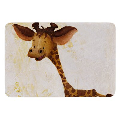 Georgey The Giraffe by Rachel Kokko Bath Mat