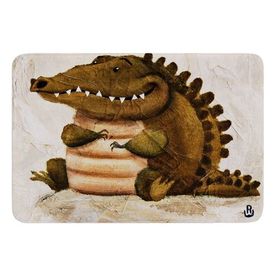 Smiley Crocodiley by Rachel Kokko Bath Mat
