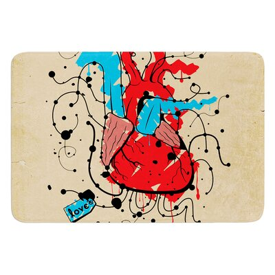 Heart by Roberlan Bath Mat