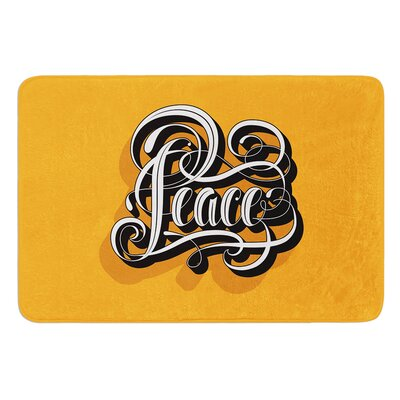 Peace by Roberlan Bath Mat