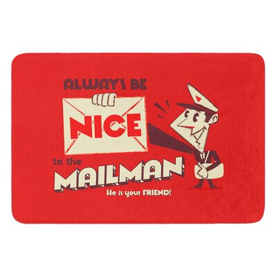 Be Nice To The Mailman by Roberlan Bath Mat