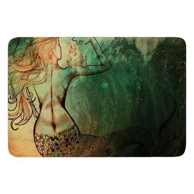 Poor Mermaid by Theresa Giolzetti Bath Mat