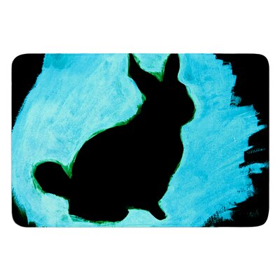 Moon Bunny by Theresa Giolzetti Bath Mat