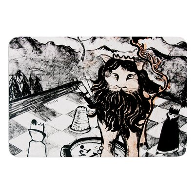 King Leo by Theresa Giolzetti Bath Mat