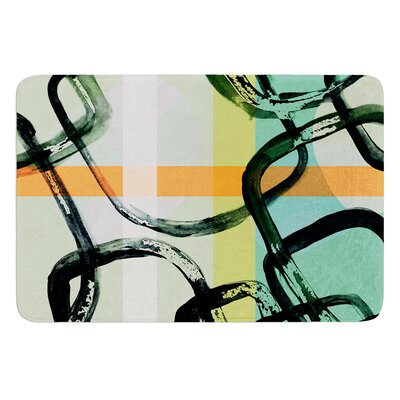 Sixties Stripe by Theresa Giolzetti Bath Mat