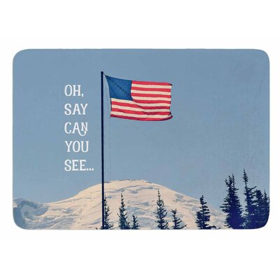 Oh Say Can You See by Robin Dickinson Bath Mat