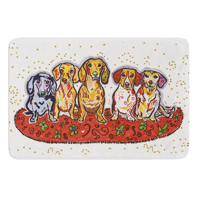 Maksim Murray Enzo Ruby and Willy by Rebecca Fischer Bath Mat