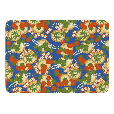 Clam And Paulownia by Setsu Egawa Bath Mat
