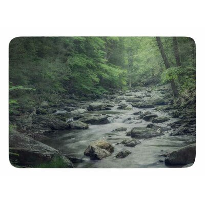 Misty Forest Stream by Suzanne Harford Bath Mat