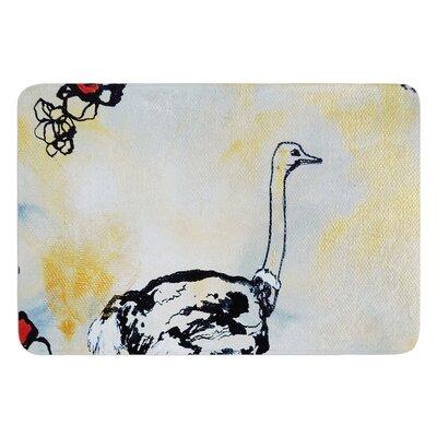 Ostrich by Sonal Nathwani Bath Mat