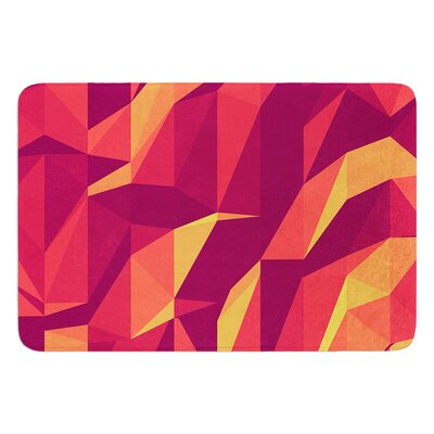 Abstract Mountains by Strawberringo Bath Mat