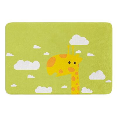 Baby Giraffe by Strawberringo Bath Mat