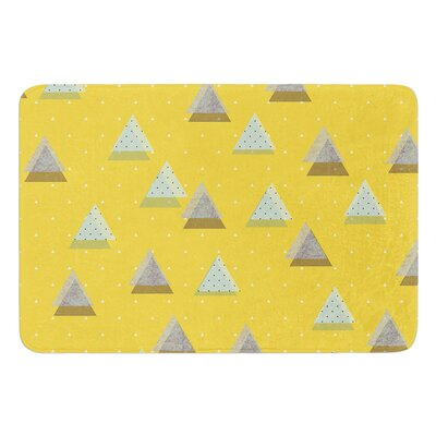 Triangles by Strawberringo Bath Mat