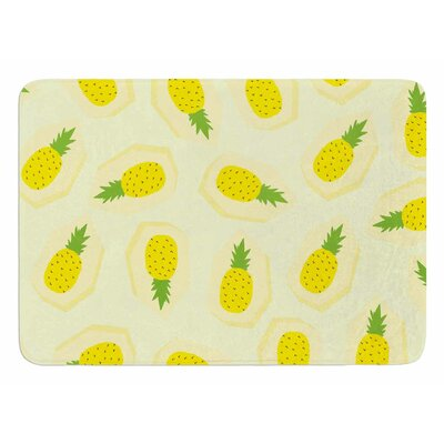 Pineapple by Strawberringo Bath Mat