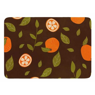 Orange by Strawberringo Bath Mat