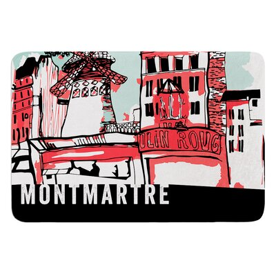 Montmartre by Theresa Giolzetti Bath Mat