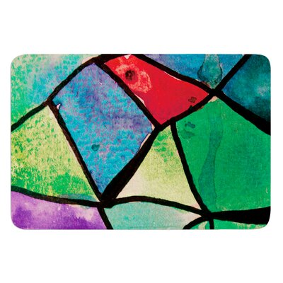Stain Glass 1 by Theresa Giolzetti Bath Mat