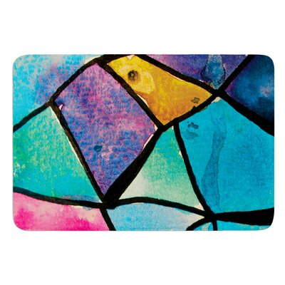 Stain Glass 2 by Theresa Giolzetti Bath Mat