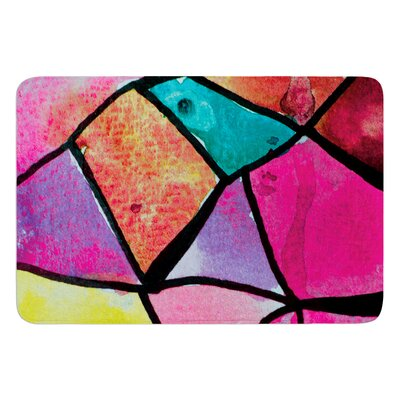 Stain Glass 3 by Theresa Giolzetti Bath Mat