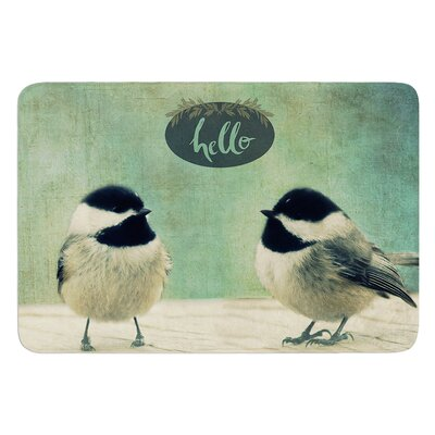 Hello Birds by Robin Dickinson Bath Mat