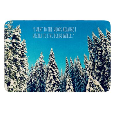 I Went to the Woods by Robin Dickinson Bath Mat