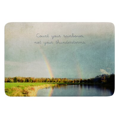 Count Rainbows by Robin Dickinson Bath Mat