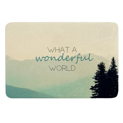 What A Wonderful World by Robin Dickinson Bath Mat