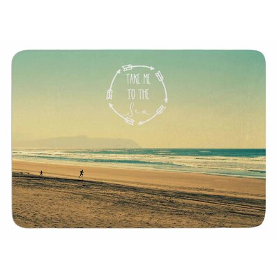 Take Me To The Sea by Robin Dickinson Bath Mat